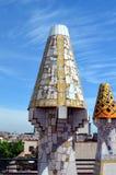 Μωσαϊκά του Antonio Gaudi Παλάου Guell Στοκ Εικόνες