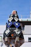 Μωσαϊκά του Antonio Gaudi Παλάου Guell Στοκ φωτογραφία με δικαίωμα ελεύθερης χρήσης