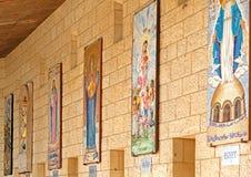 Μωσαϊκά Annunciation του καθεδρικού ναού στη Ναζαρέτ Στοκ εικόνες με δικαίωμα ελεύθερης χρήσης