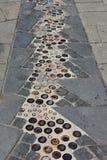 Μωσαϊκό Βαρκελώνη πεζοδρομίων Στοκ Εικόνες