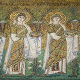 Μωσαϊκό η νέα βασιλική Αγίου Apollinaris Στοκ φωτογραφία με δικαίωμα ελεύθερης χρήσης