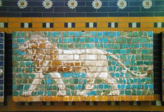 Μωσαϊκό λιονταριών της πύλης Ishtar στη Ιστανμπούλ Στοκ φωτογραφίες με δικαίωμα ελεύθερης χρήσης