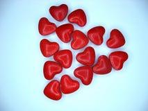 μωσαϊκό καρδιών Στοκ Φωτογραφίες