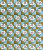 Μωσαϊκό κεραμιδιών Peranakan απεικόνιση αποθεμάτων