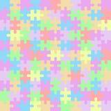 Μωσαϊκό κομματιών χρώματος γρίφων Στοκ εικόνες με δικαίωμα ελεύθερης χρήσης