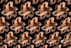 Μωσαϊκό που δημιουργείται από τις λεπίδες ξυραφιών Στοκ Φωτογραφίες