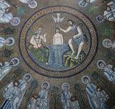 Μωσαϊκό σε Arian Baptistry, Ραβένα, Ιταλία Στοκ Εικόνες