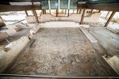 Μωσαϊκό του Νείλου επί του archeological τόπου Tzipori Στοκ Φωτογραφίες
