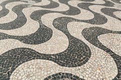 Μωσαϊκό του πεζοδρομίου Copacabana στο Ρίο ντε Τζανέιρο Στοκ φωτογραφία με δικαίωμα ελεύθερης χρήσης