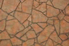 Μωσαϊκό των μεγάλων ανώμαλων κόκκινων πετρών μορφής με τις γκρίζες άκρες στοκ εικόνες