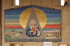 Μωσαϊκό Madonna σε έναν τοίχο της εκκλησίας Annunciation Στοκ Εικόνες