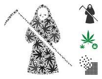 Μωσαϊκό Scytheman της μαριχουάνα διανυσματική απεικόνιση