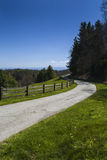 Μωυσής Cone Memorial Park, μπλε χώρος στάθμευσης κορυφογραμμών, NC Στοκ Εικόνες