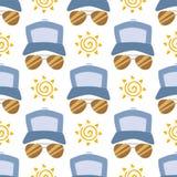Μόδας γυαλιών ηλίου βοηθητικό ήλιων υπόβαθρο σχεδίων θεαμάτων άνευ ραφής διανυσματική απεικόνιση