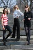 μόδα τρία γυναίκες στοκ φωτογραφίες με δικαίωμα ελεύθερης χρήσης
