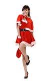 μόδα Χριστουγέννων ομορφ&iot Στοκ Εικόνες