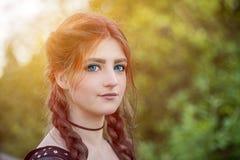 Μόδα, anime και η έννοια της νεολαίας ένα ύφος-κορίτσι με το colore Στοκ Εικόνα