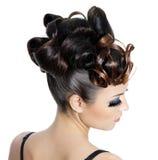 μόδα hairstyle Στοκ Εικόνα