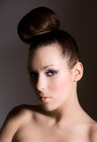 μόδα hairstyle Στοκ φωτογραφία με δικαίωμα ελεύθερης χρήσης
