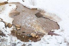 Μόλυνση της φύσης από τα λύματα στοκ εικόνες με δικαίωμα ελεύθερης χρήσης