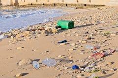 Μόλυνση του παγκόσμιου ωκεανού από το πλαστικό στοκ φωτογραφίες με δικαίωμα ελεύθερης χρήσης