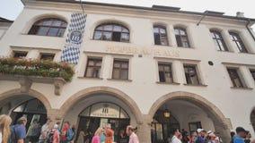 Μόναχο, Γερμανία - 5 Αυγούστου 2018: Το Hofbraeuhaus στο ιστορικό κέντρο πόλεων του Μόναχου απόθεμα βίντεο