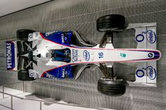 Μόναχο, Γερμανία - 10 Μαρτίου 2016: Αυτοκίνητο Formula 1 της ομάδας της BMW Sauber στο μουσείο μπορντουρών της BMW στο Μόναχο, Γε Στοκ Φωτογραφία