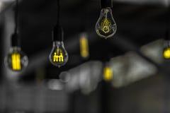 Μόνες λάμπες φωτός Στοκ Εικόνα