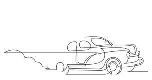 Μόνη ζωτικότητα γραμμών σχεδίων του κλασικού αυτοκινήτου απόθεμα βίντεο