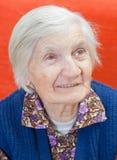μόνη ηλικιωμένη γυναίκα Στοκ εικόνα με δικαίωμα ελεύθερης χρήσης