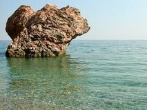 μόνη θάλασσα βράχου Στοκ Φωτογραφίες