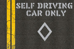 Μόνη οδηγώντας έννοια αυτοκινήτων Στοκ φωτογραφία με δικαίωμα ελεύθερης χρήσης