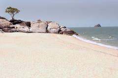 Μόνη παραλία κοντά στην παραλία Khao Tao Στοκ Εικόνες