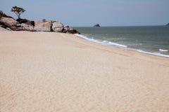Μόνη παραλία κοντά στην παραλία Khao Tao Στοκ φωτογραφία με δικαίωμα ελεύθερης χρήσης