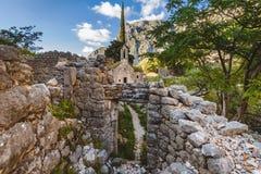 Μόνη σερβική εκκλησία στα βουνά Στοκ Εικόνες