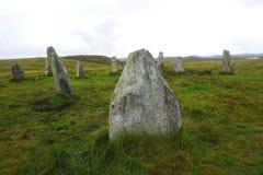 Μόνιμες πέτρες στο νησί του Lewis, Hebrides Στοκ φωτογραφία με δικαίωμα ελεύθερης χρήσης
