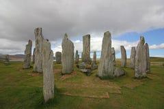 Μόνιμες πέτρες Callanish, νησί του Lewis, Σκωτία Στοκ εικόνες με δικαίωμα ελεύθερης χρήσης