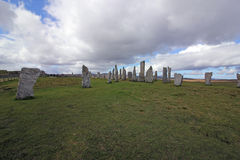 Μόνιμες πέτρες Callanish, νησί του Lewis, Σκωτία Στοκ Φωτογραφίες