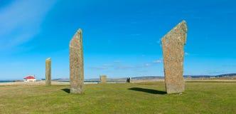Μόνιμες πέτρες Stenness, Orkney νησί Στοκ Φωτογραφίες