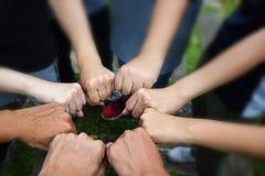 Μόνιμοι άνθρωποι χεριών επιχειρησιακών ομάδων μαζί που ενώνουν για την επιχείρηση επιτυχίας συνεργασίας Έννοια ομαδικής εργασίας Στοκ Φωτογραφία