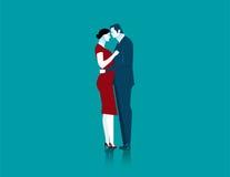 Μόνιμο αγκάλιασμα ζευγών επιχειρηματιών και γυναικών απεικόνιση αποθεμάτων