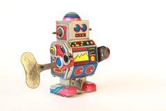μόνιμο εκλεκτής ποιότητας ρομπότ κασσίτερου, πλάγια άποψη με το κλειδί Στοκ φωτογραφία με δικαίωμα ελεύθερης χρήσης