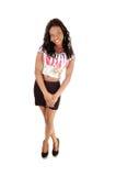 Μόνιμο μαύρο κορίτσι ομορφιάς. Στοκ Εικόνες