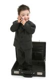 μόνιμο μικρό παιδί κοστουμ& στοκ εικόνες