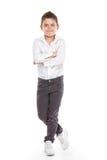 Μόνιμο νέο δροσερό αγόρι Στοκ φωτογραφία με δικαίωμα ελεύθερης χρήσης