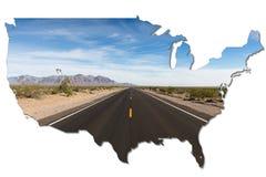 Μόνος δρόμος μέσω του εθνικού πάρκου κοιλάδων θανάτου, Καλιφόρνια απεικόνιση αποθεμάτων