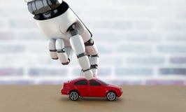 Μόνος-οδηγώντας έννοια αυτοκινήτων τρισδιάστατη απόδοση στοκ εικόνα με δικαίωμα ελεύθερης χρήσης
