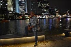 Μόνος-πορτρέτο Σιγκαπούρη στοκ εικόνες