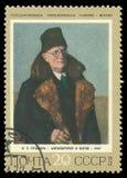 Μόνος-πορτρέτο στο παλτό γουνών από Grabar στοκ εικόνες με δικαίωμα ελεύθερης χρήσης