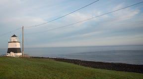 Μόνος φάρος κατά μήκος του κόλπου Fundy στοκ εικόνες με δικαίωμα ελεύθερης χρήσης